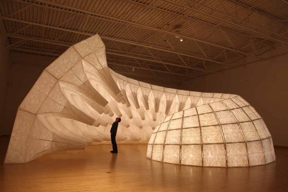 John Grade, sculpture Capacitor at the Kohler Arts