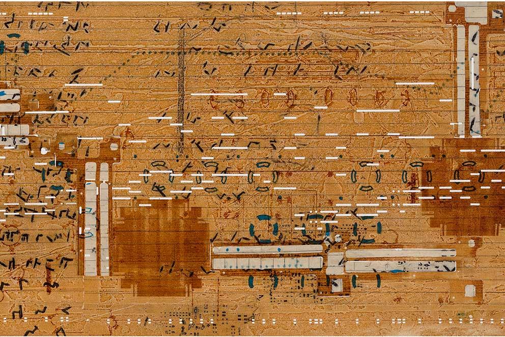 Catherine Farish, Notation, mixed media and printmaking
