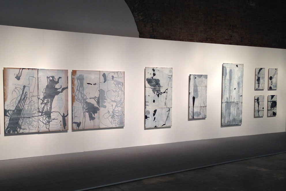 Painting by Linaghong Feng installed at the Venice Biennale