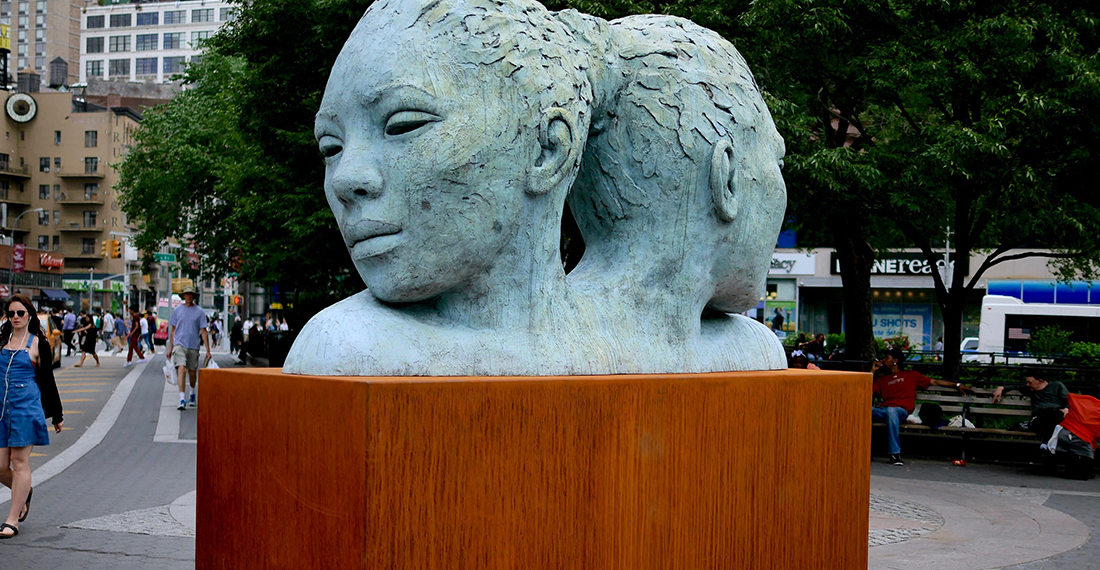 Lionel Smit sculpture in Union Square NYC