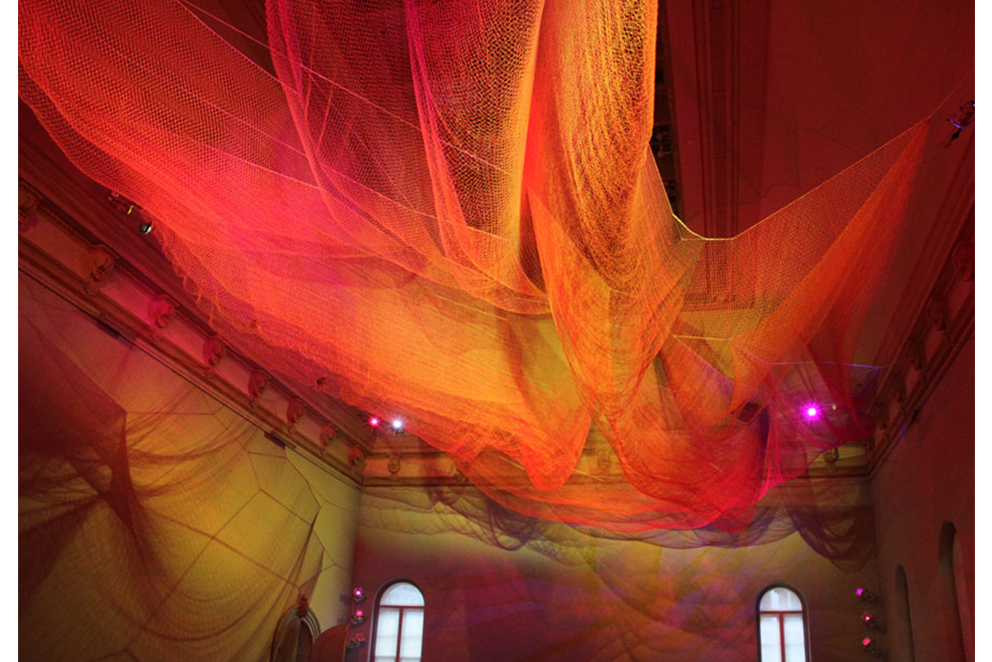Janet Echelman installation at the Renwick Gallery, Washington DC