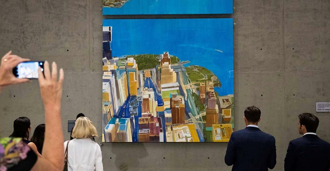 Daniel Kohn painting at 9/11 museum
