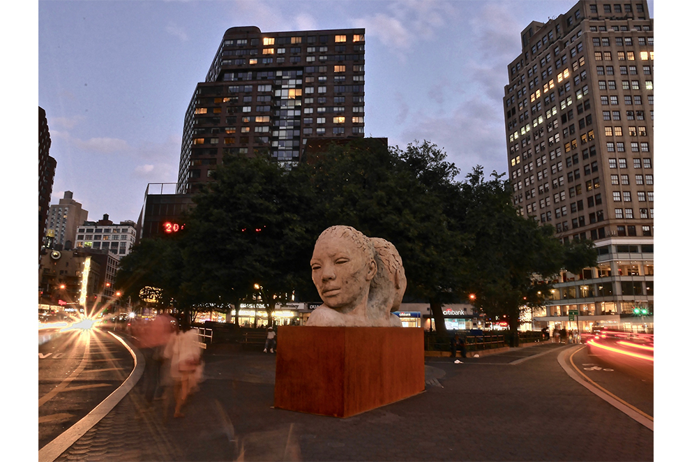 Lionel Smit public art sculpture, Morphous in Union Square, NYC
